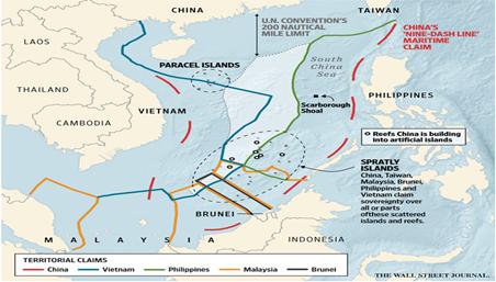 Pretensiones de la RPC en el Mar Sur de China (Black 2018)