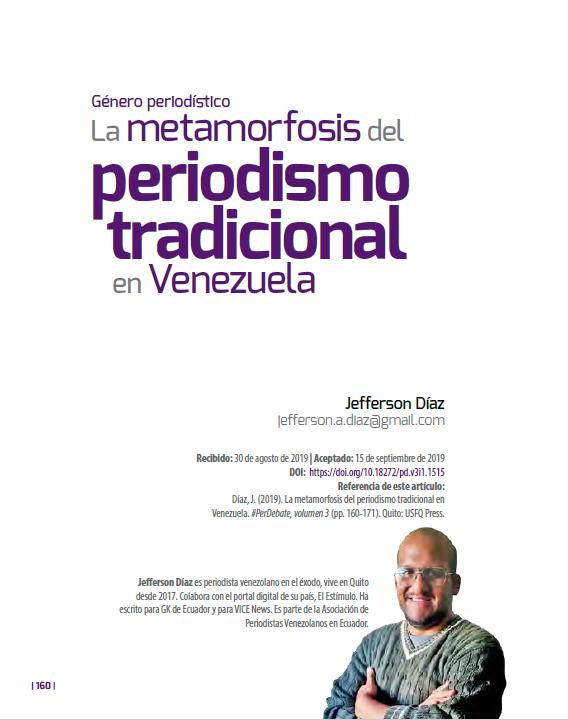 Metamorfosis del periodismo tradicional en Venezuela