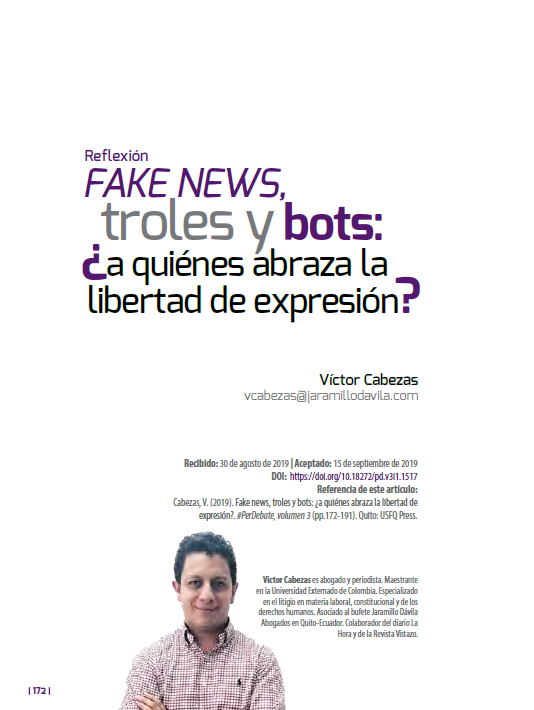 Fake News, troles y bots