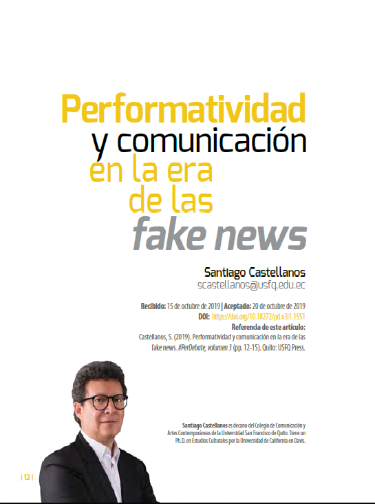 Performatividad y comunicación en fake news