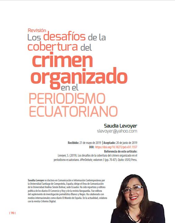 Cobertura del crimen organizado en Ecuador