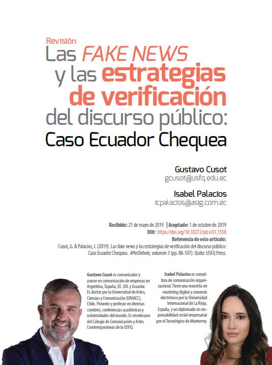Fake News y estrategias de verificación en Ecuador Chequea