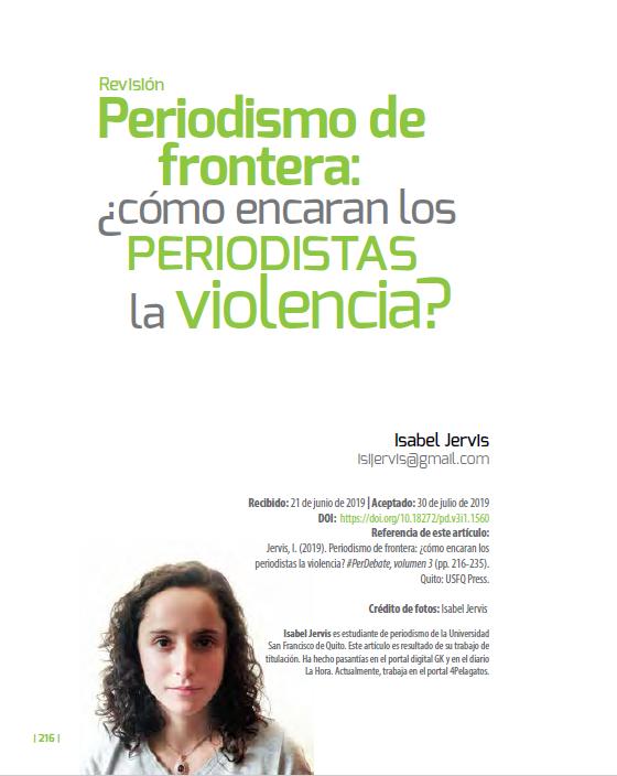 Periodismo de frontera de cara a la violencia