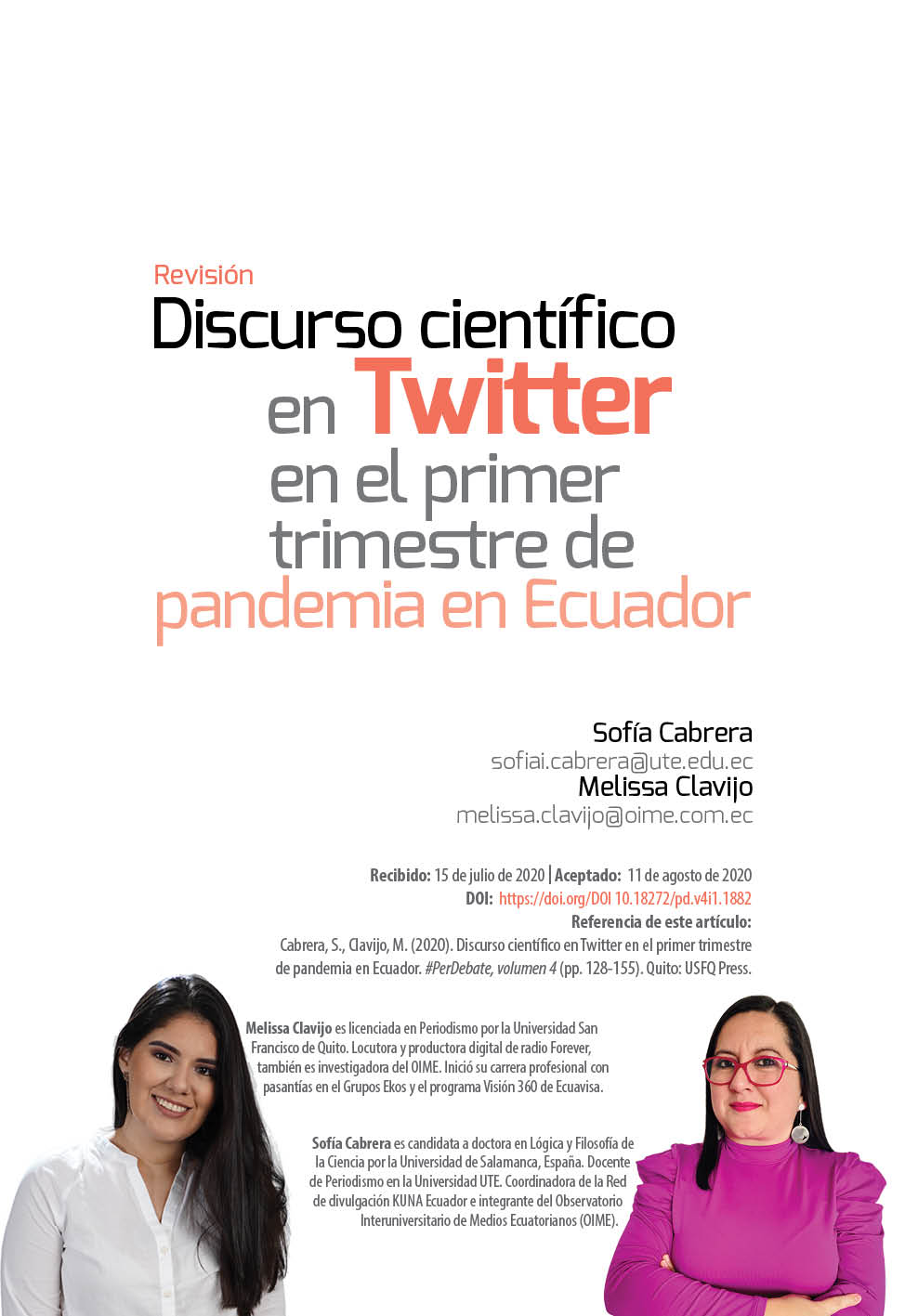 Discurso científico Twitter