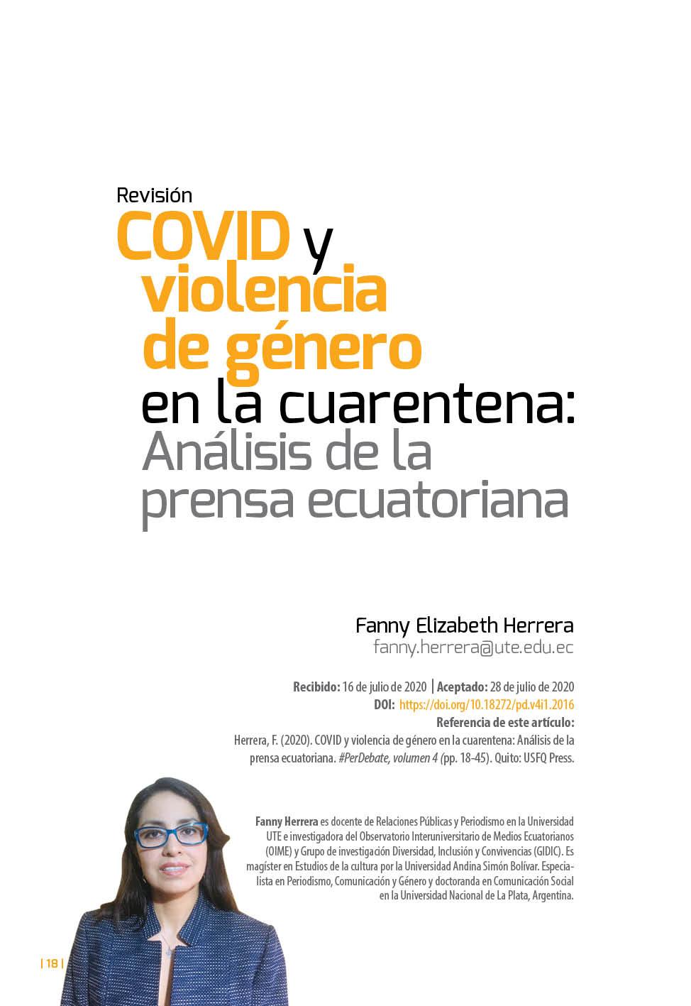 Covid y violencia género