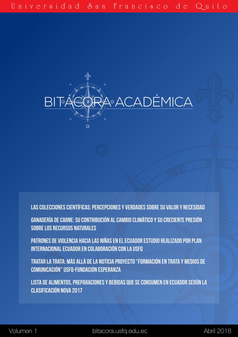 portada bitácora académica USFQ volumen 1