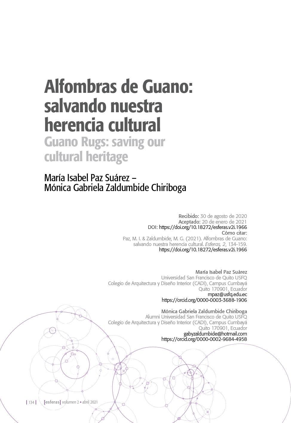 Alfombras de Guano: salvando nuestra herencia cultural