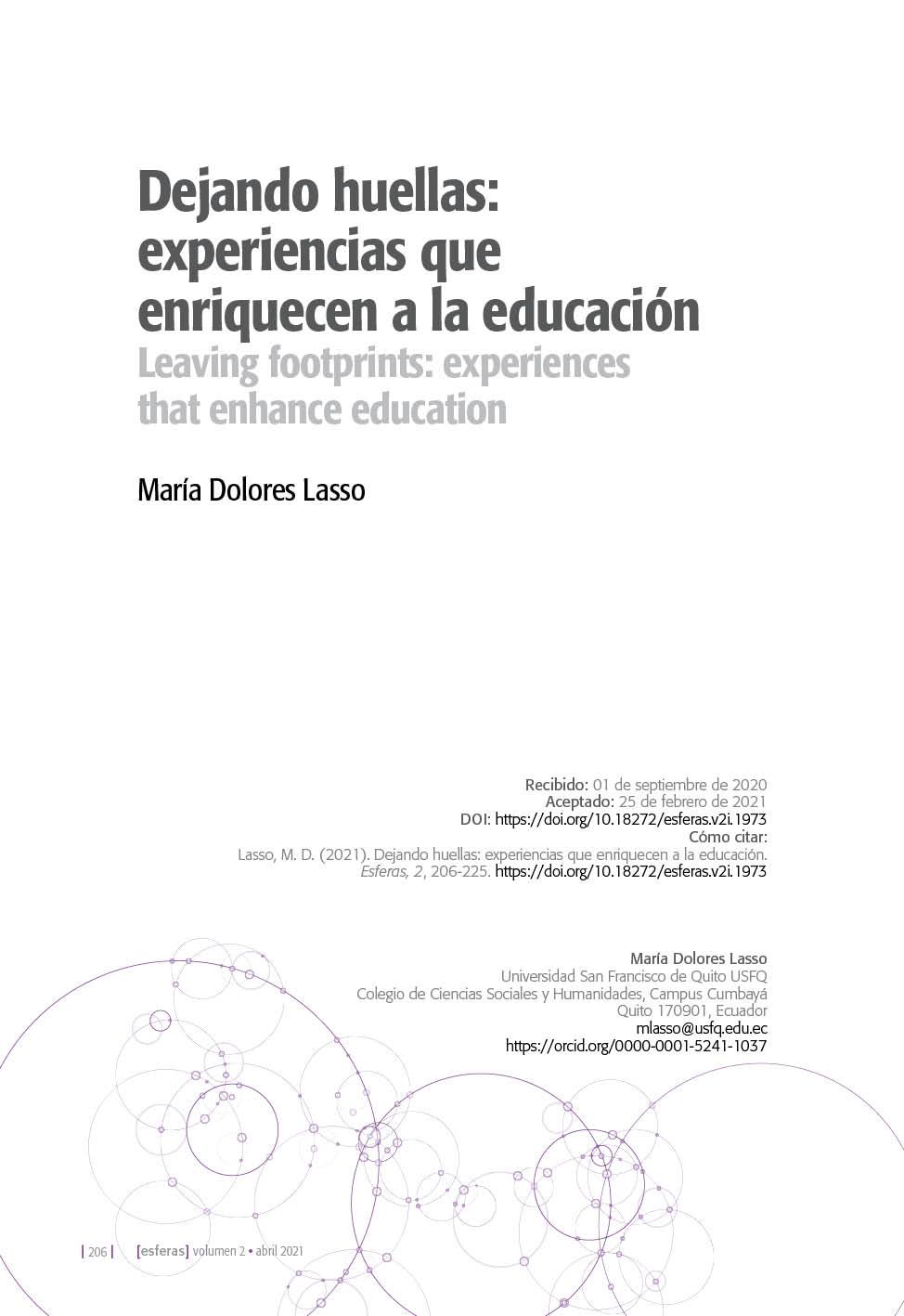 Dejando huellas: experiencias que enriquecen a la educación
