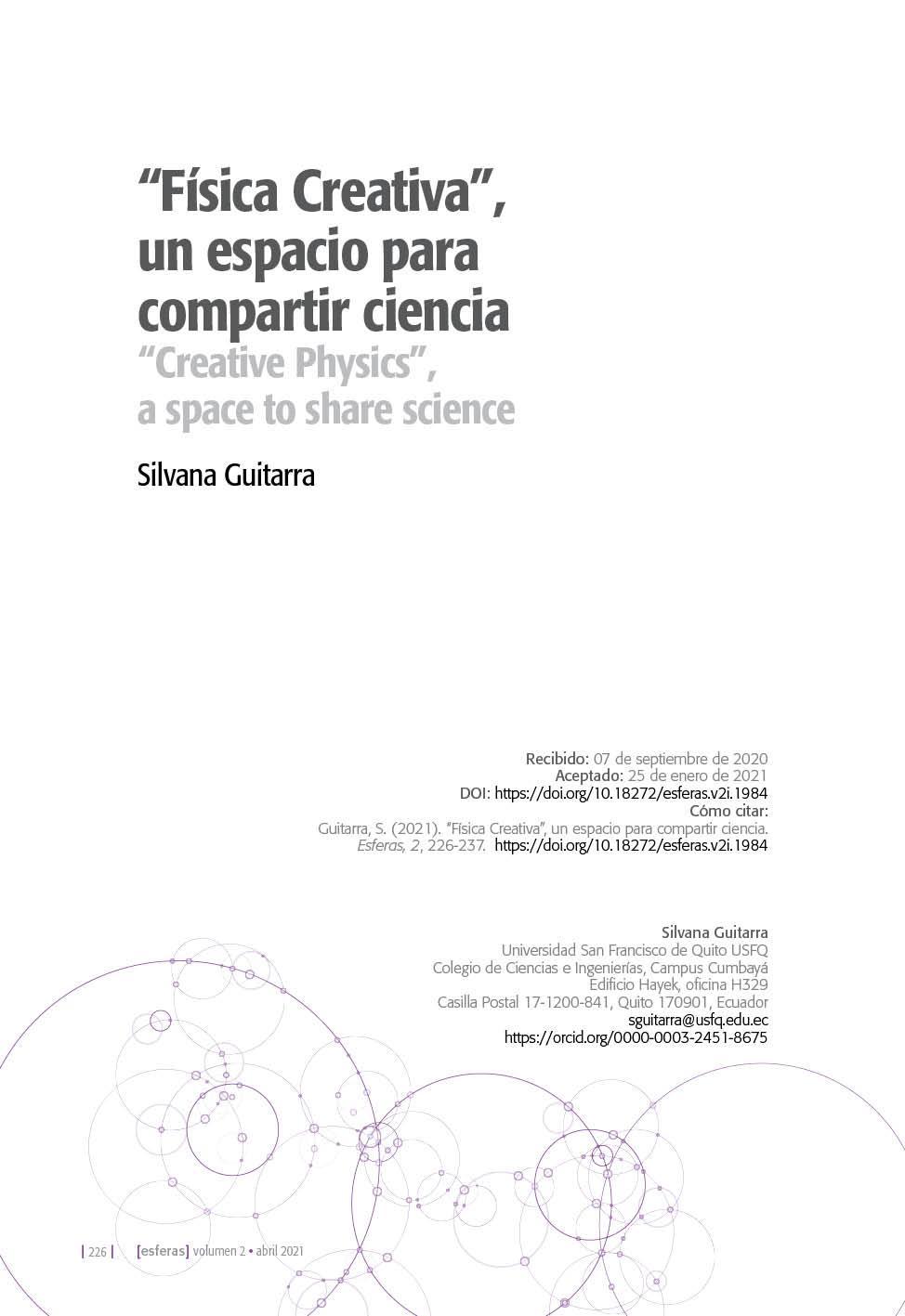 """""""Física Creativa"""", un espacio para compartir ciencia"""