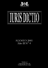 Portada Iuris Dictio Vol. 2 Núm. 4 (2001)