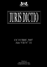 Portada Iuris Dictio Vol. 7 Núm. 11 (2007)