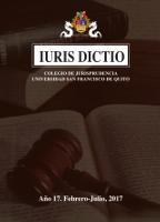 Portada Iuris Dictio Vol. 15 Núm. 17 (2016)