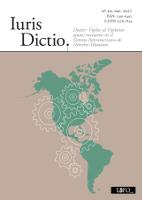 Portada Iuris Dictio Vol. 20 (2do semestre 2017 / publicado el 15 de diciembre 2017)